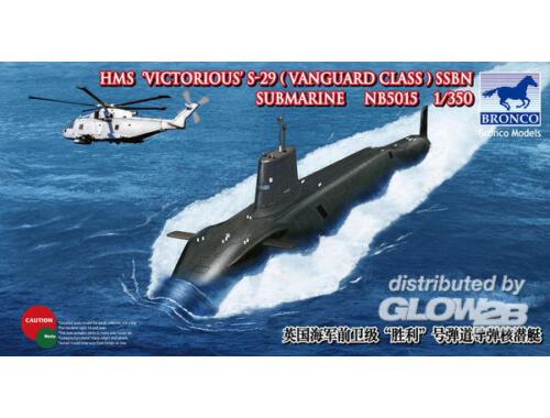 Bronco HMS-29'Victorius'SSBN Submarine 1:350 (NB5015)