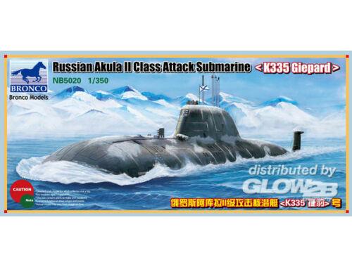 Bronco Russian Akula II Class Attack Submarine `K335 Giepard' 1:350 (NB5020)