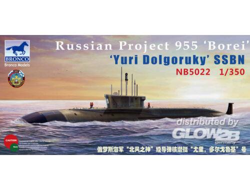 Bronco Russian Project 955'Borei'Yuri Dolgoruky SSBN 1:350 (NB5022)