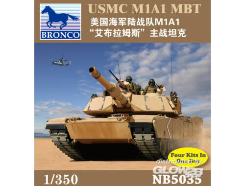 Bronco USMC M1A1 MBT 1:350 (NB5035)