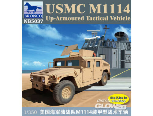 Bronco USMC M-1114 UP-Armoured Vehicle 1:350 (NB5037)