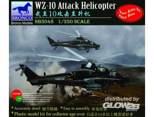 Bronco WZ-10 Attack Helicopter 1:350 (NB5048)