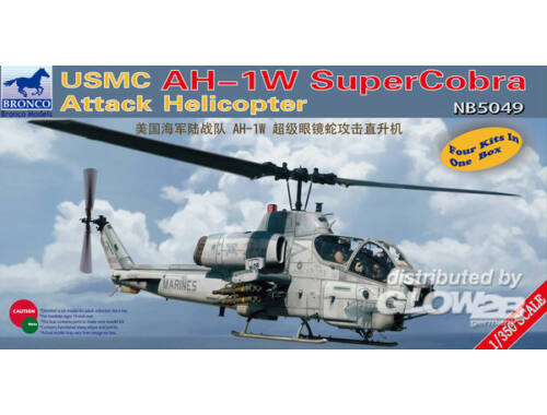 Bronco USMC AH-1W Super Cobra Attack Helicopter 1:350 (NB5049)