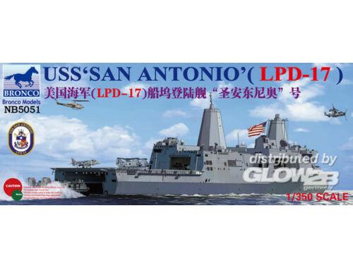 Bronco USS San Antonio (LPD-17) 1:350 (NB5051)