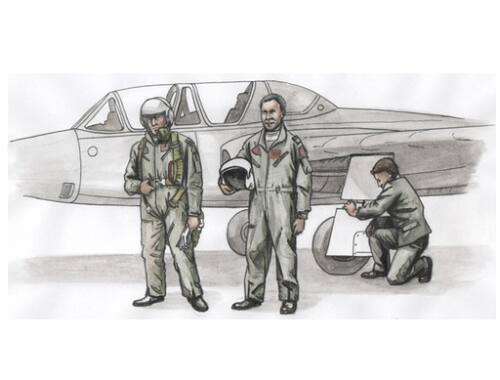 CMK Two Fouga Magister Pilots and a Mechanic for SH kit (3fig) 1:72 (F72306)
