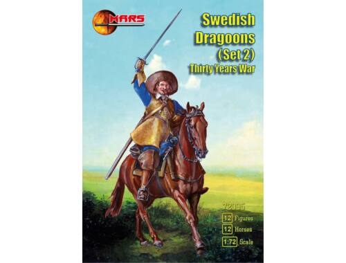 Mars Swedish dragoons,set 2, Thirty Years War 1:72 (72095)