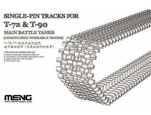 Meng Single-Pin Tracks for T-72   T-90 Main Battle Tanks 1:35 (SPS-029)