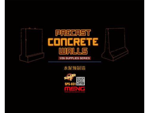 Meng Precast Concrete Walls (resin) 1:35 (SPS-031)