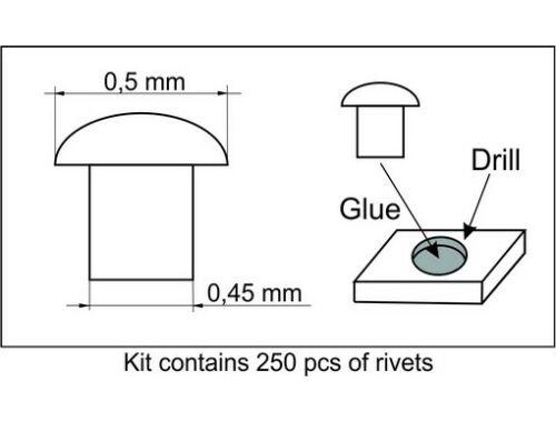 Plus Model Rivets 0,5 mm 1:35 (459)
