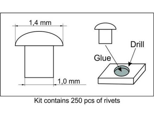 Plus Model Rivets 1,4 mm 1:35 (464)