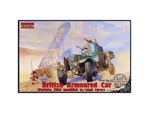 Roden British Armoured Car Pattern 1920 Mk.II (modified with sand tyres) 1:72 (734)
