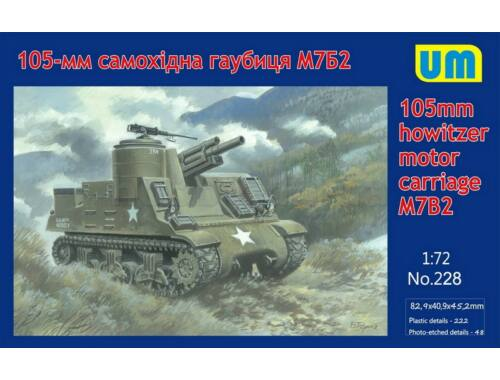 Unimodel M7B2 105mm Howitzer Motor Carriage 1:72 (228)
