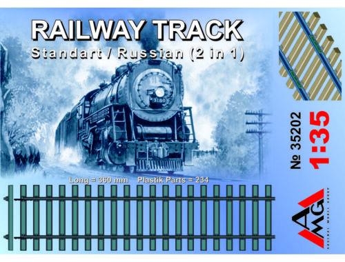 AMG Railway track (Standard/Russian 2 in 1) 1:35 (35202)
