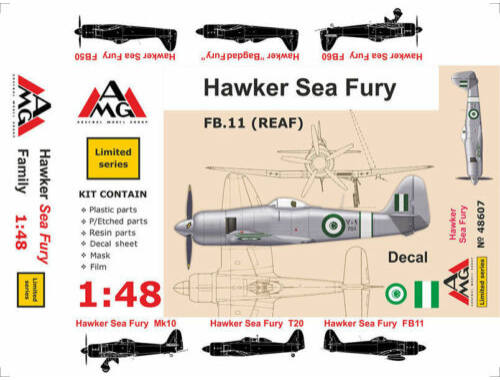 AMG FB.11 (REAF) Hawker Sea Fury 1:48 (48607)
