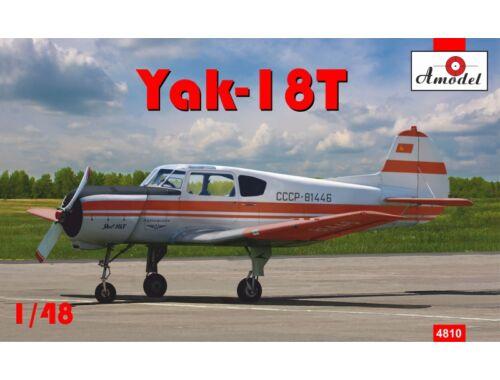 Amodel Yakovlev Yak-18T Red Aeroflot 1:48 (4810)