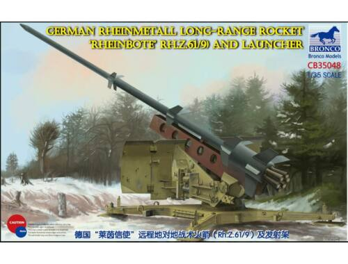 Bronco German Rheinmetall Rakete Rheinbote(Rh.Z.61/9) and launcher 1:35 (CB35048)