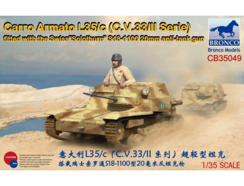 "Bronco Carro Armato L35/c(C.V.33/II Serie)Fitte with the Swiss""Solothurn""S18-1100 1:35 (CB35049)"
