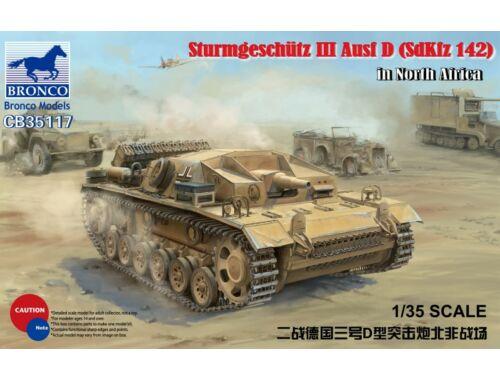 Bronco German Assault Gun Sturmgeschütz III Ausf D (SdKfz 142) in El Alamein 1:35 (CB35117)
