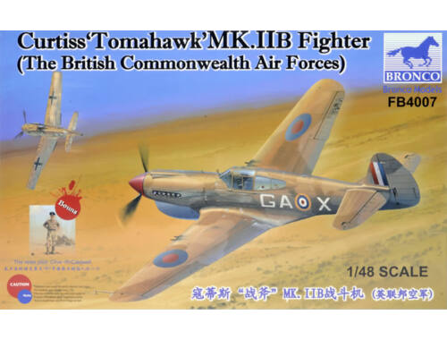 """Bronco Curtiss""""Tomahawk'MK.II B Fighter The British Commonwealth Air Forces) 1:48 (FB4007)"""