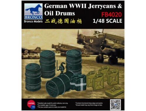 Bronco German Jerry Can   Fuel Drum 1:48 (FB4020)
