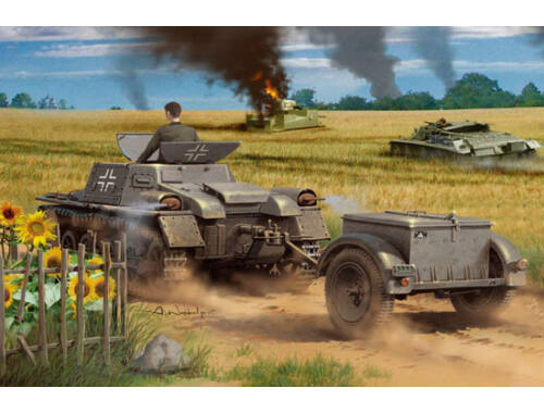 Hobby Boss Munitionsschlepper auf Panzerkampfwagen I Ausf A with Ammo Trailer 1:35 (80146)