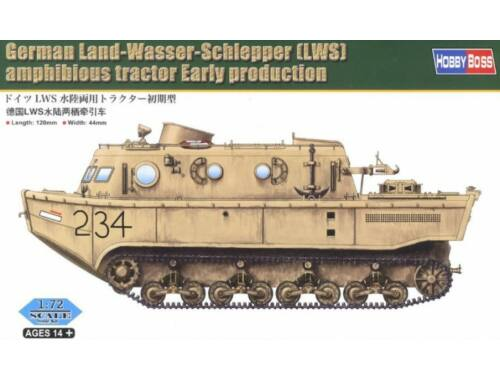 Hobby Boss German Land-Wasser-Schlepper(LWS)amphibi tractor Early production 1:72 (82918)