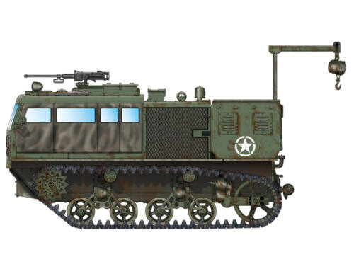 Hobby Boss M4 High Speed Tractor(155mm/8-in./240mm) 1:72 (82921)