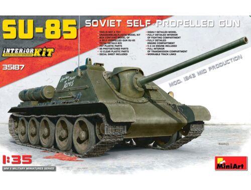 Miniart SU-85 Mod.1943(Mid Production)w/Full Int 1:35 (35187)