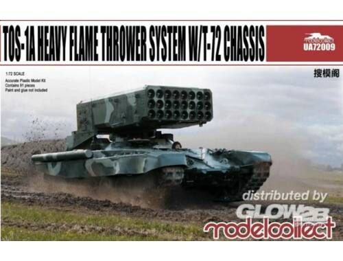 Modelcollect TOS-1A Heavy Flame Thrower System W/T-72 Chassis 1:72 (UA72009)