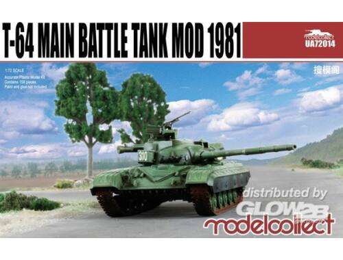 Modelcollect T-64 Main Battle Tank Mod 1981 1:72 (UA72014)