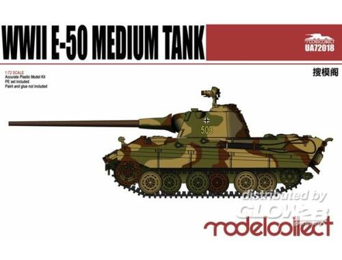 Modelcollect Germany E-50 Medium Tank with 88Gun 1:72 (UA72018)
