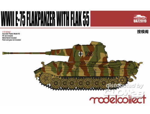 Modelcollect Germany E-75 Flakpanzer with Flak55 1:72 (UA72019)