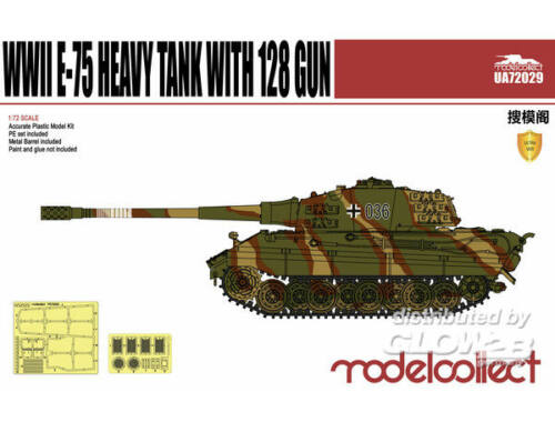 Modelcollect Germany E-75 Heavy Tank with 128gun 1:72 (UA72029)
