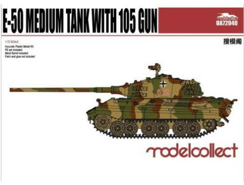 Modelcollect Germany E-50 Medium Tank with105gun 1:72 (UA72040)