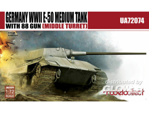 Modelcollect Germany E-50 Medium Tank with 88gun (middle turret) 1:72 (UA72074)