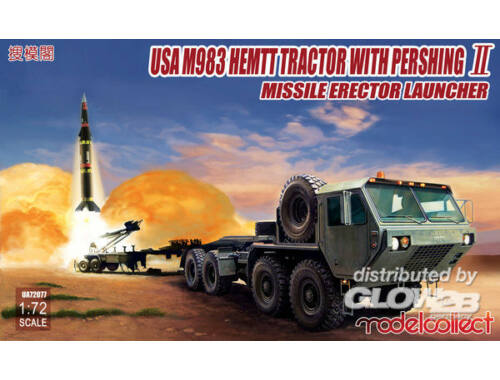 Modelcollect USA M983 HEMTT Tractor with Pershing II Missile Erector Launche 1:72 (UA72077)