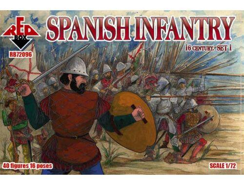 Red Box Spanish infantry, 16th century, set 1 1:72 (72096)