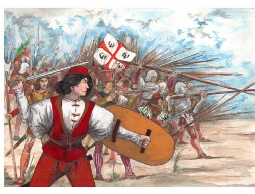 Red Box Italian infantry, 16th century, set 1 1:72 (72099)