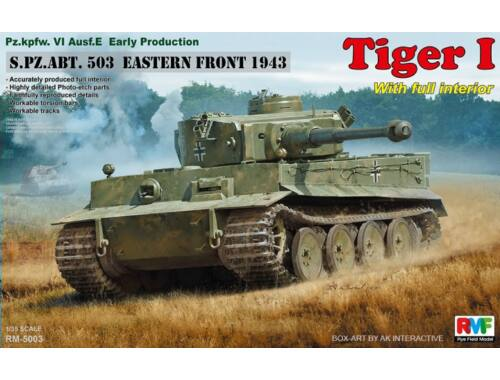 Rye Field Model Tiger I Early Production w/Full Interior 1:35 (5003)