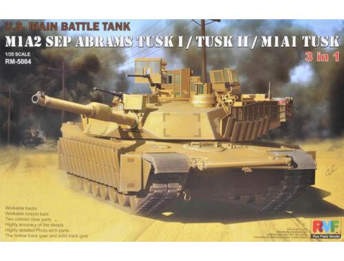 Rye Field Model M1A2 SEP Abrams Tusk I/Tusk II/M1A1 Tusk 1:35 (5004)
