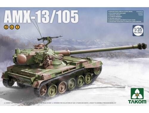 Takom French Light Tank AMX-13/105 2 in 1 1:35 (2062)