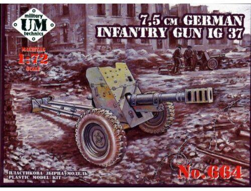 Unimodel 75mm German infantry gun IG 37 1:72 (T664)