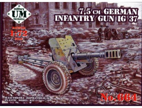Unimodel 75mm German infantry gun IG 37 1:72 (T664)