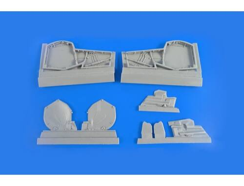 CMK BAC Lightning (for any version) – Main Undercarriage Bays Set 1/48 for Airfix /Eduard kit 1:48 (