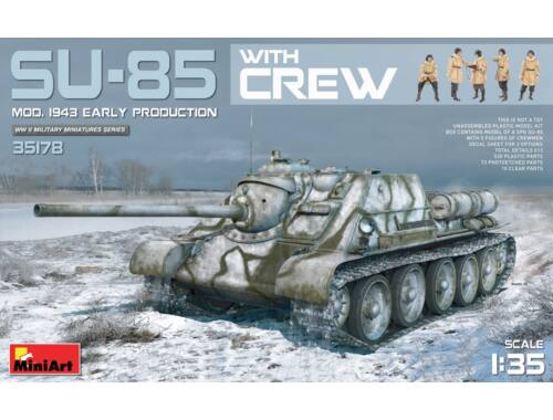 Miniart SU-85 Mod.1943(Early Produktion) w/Crew 1:35 (35178)