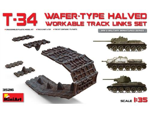 Miniart T-34 Wafer-Type Halved Workable Track Links Set 1:35 (35216)