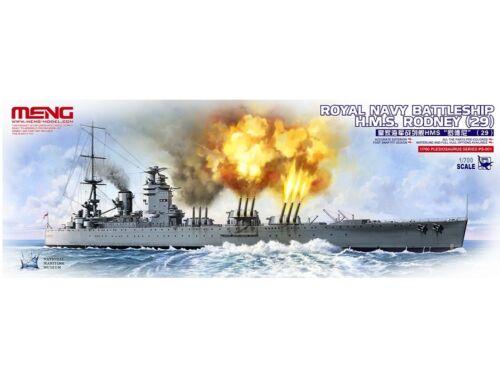 Meng Royal Navy Battleship H.M.S.Rodney (29) 1:700 (PS-001)