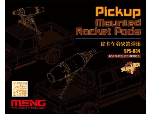 Meng Pickup Mounted Rocket Pods (Resin) 1:35 (SPS-034)