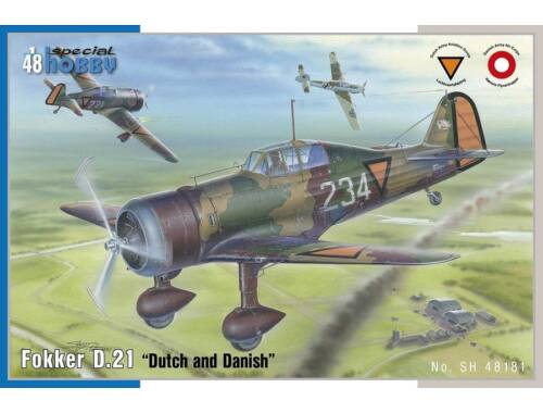 """Special Hobby Fokker D.21 """"Dutch and Danish"""" 1:48 (48181)"""