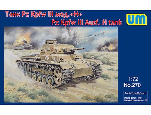 Unimodel Pz.Kpfw III Ausf.H German tank 1:72 (270)